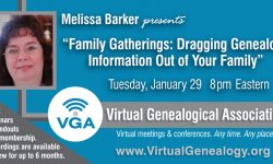 Details for the webinar with Melissa Barker on January 29th