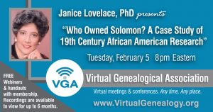 Janice Lovelace's webinar topic for February 5th