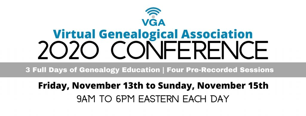 2020 Virtual Genealogical Association conference
