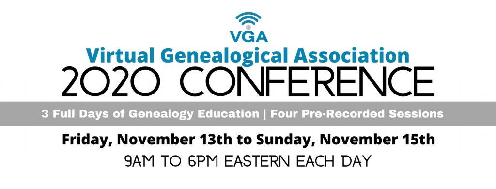 2020 Virtual Genealogical Association conference